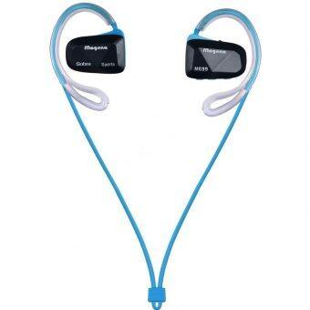 KS Bluetooth earphone หูฟังไร้สายแบบสอดหูสำหรับออกกำลังกาย พร้อมไมค์ ปรับเสียง รุ่น BT-60- สีฟ้า