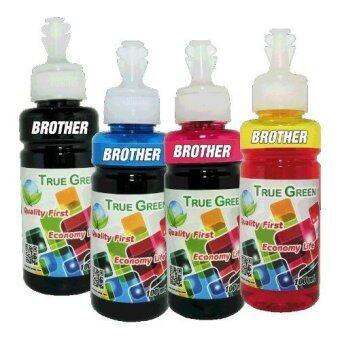 True Green inkjet refill 100ml. BROTHER all model : B/C/M/Y ( ชุด 4 ขวด )