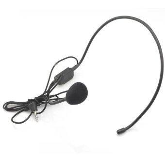 ไมโครโฟน สวมหัว แบบมีสาย BH-100 Vocal Wired Headset Microphone Bright Clear Sound Microphone (Black)