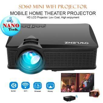 โปรเจคเตอร์ SD60 PLUS 2017 Easy connect best of Mini projector - สีดำ