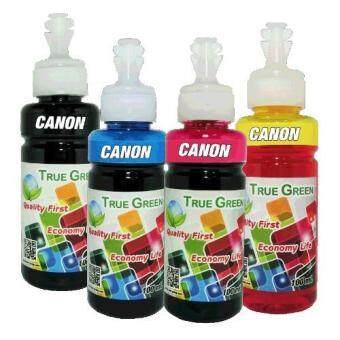 True Green inkjet refill 100ml. canon all model : B/C/M/Y ( ชุด 4 ขวด )