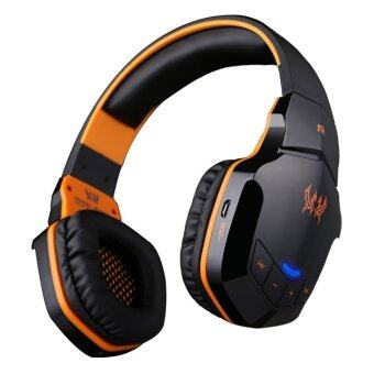 KOTION EACH B3505 Wireless Bluetooth 4.1 Stereo Gaming Headphone Headset Support NFC with Mic for iPhone6/iPhone6 Plus Samsung (Black/Orange) (Intl)
