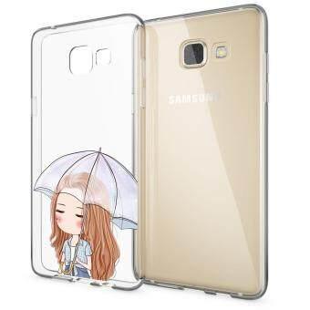HugCase TPU เคส Samsung Galaxy A9เคสโทรศัพท์พิมพ์ลาย umbrella เนื้อบาง 0.3 mm