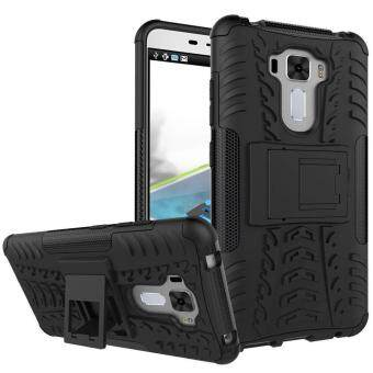 "Harga Dual Layer Case for Asus Zenfone 3 Laser ZC551KL 5.5"" Hybrid Tough Rugged Armor Kickstand Cover Red - intl"