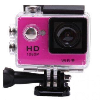กล้องกันน้ำ Sports Cam Full HD 1080P Wifi - (Pink)