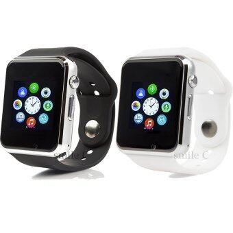 smile C นาฬิกาโทรศัพท์ Smart Watch รุ่น A1 Phone Watch แพ็ค 2 ชิ้น (Black/White)