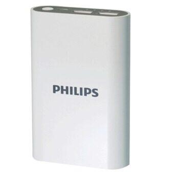 Philips แบตเตอร์รี่สำรอง 7,500mAh 2port USB Charging 2.1A รุ่น DLP7503/97 (สีขาว)