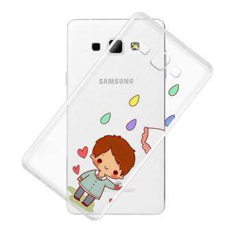 AFTERSHOCK TPU Case Samsung Galaxy J7 2016 (เคสใสพิมพ์ลาย umbrella 2) / Thin 0.33 mm