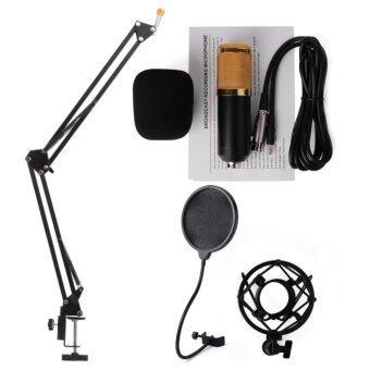 igootech ไมค์โครโฟน BM800 พร้อม ขาตั้งไมค์โครโฟน และอุปกรณ์เสริม (สีดำ)