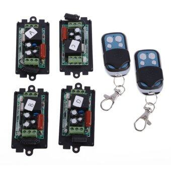 Harga 4x AC220V RF Wireless Switch Relay Receiver 2x 1CH Remote Controllers - Intl