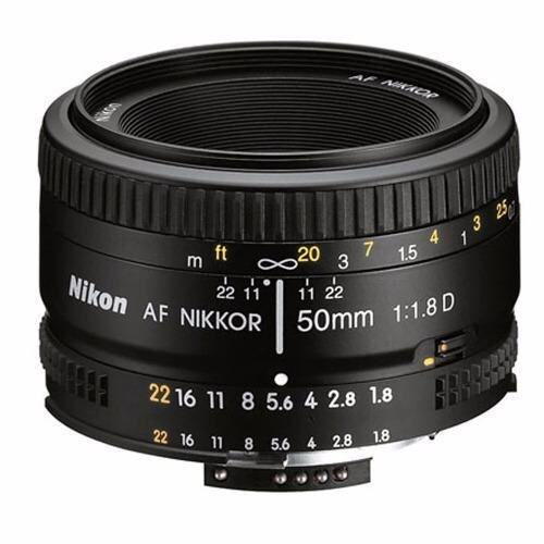 (IMPORT) Nikon AF 50mm f/1.8D f1.8D Lens Black