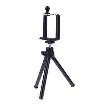 โทรศัพท์มือถือขาตั้งพับได้บูธมินิสำหรับกล้องวิดีโอโฟนสีดำ - Intl