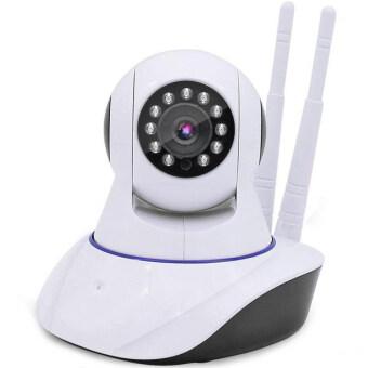 IP Camera Cam IP Camera Full HD กล้องวงจรปิดไร้สาย version 2 สองเสาอากาศ(white)
