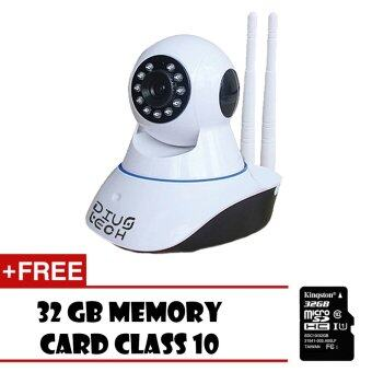 IP Camera CCTV กล้องวงจรปิด/กล้องไอพี 1.3 ล้านพิกเซล HD 720P IR Cut Wi-Fi และ ไมโครโฟน ในตัว ฟรี 32 GB CLASS 10 Micro SD Card