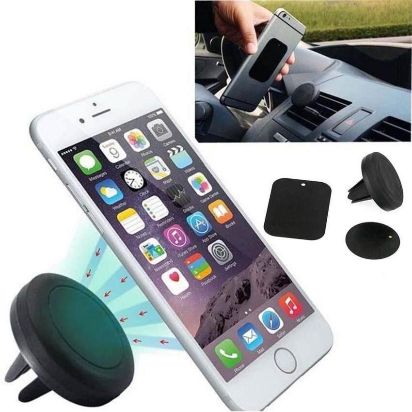 ที่ยึดโทรศัพท์มือถือในรถยนต์ แบบเสียบช่องแอร์ ระบบแม่เหล็ก สำหรับ Iphone, Smart Phone (สีดำ)