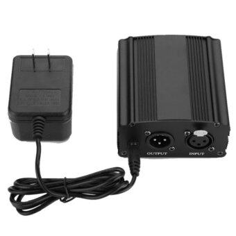 iremax Mini 1-Channel 48V Phantom Power Supply with Power Adapter for Condenser Microphone US Plug