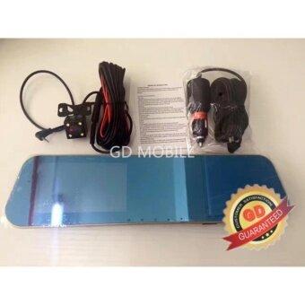 """JA LENG กล้องติดรถยนต์แบบกระจกมองหลัง กล้องหน้า/หลัง FULL HD1080 4""""3 Vehicle Blackbox Dvr"""