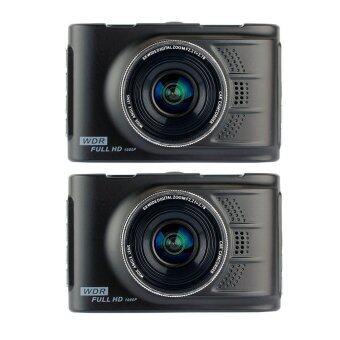 JC Gadget กล้องติดรถยนต์ รุ่น G60 WDR แพ็คคู่ (สีดำ)