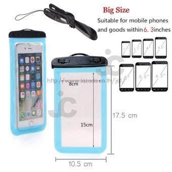 JC Waterproof Bag ซองกันน้ำสำหรับใส่โทรศัพท์มือถือ ทัชสกรีน TouchScreen + สายคล้องคอ ใช้ได้กับ i-Phone Samsung และโทรศัพท์ทุกรุ่น -แถมฟรี ซองกันน้ำสำหรับใส่โทรศัพท์มือถือ ทัชสกรีน+ สายคล้องคอใช้ได้กับ i-Phone Samsung และโทรศัพท์ทุกรุ่น มูลค่า 250 บาท - 2