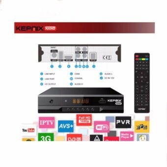 Kepnix nano iptv m3u Satellite Receiver Support PowerVu autoroll avs+ Biss ccam Youtube Wifi 2XUSB AV VS freesat v7 combo - intl
