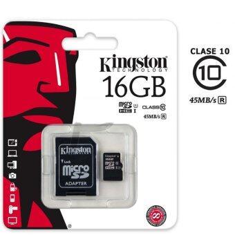 Kingston 16GB Micro SD SDHC UHS-I Class 10 Memory Card (SDC10G2/16GB)