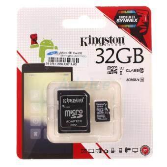 Kingston เมมโมรี่การ์ด Micro SD Card Class 10 80MB/s - 32GB With Adapter (SDC10G2/32GBFR)