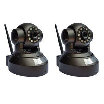 กล้องวงจรปิดไร้สาย IP Camera Full HD 1.0 Mp- Black แพ็คคู่