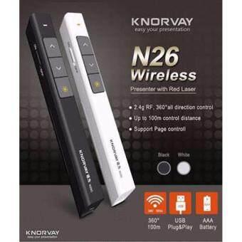 KNORVAY Wireless Presenter with Laser Pointer N26C รีโมทพรีเซนต์ไร้สายพร้อมเลเซอร์ (image 0)