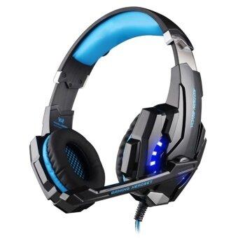 เปรียบเทียบราคา KOTION EACH G9000 3.5mm Game Gaming Headphone Headset Earphone Headband With Microphone LED Light For Laptop / Tablet / Mobile PhonesCable Length: About 2.2m(Blue + Black) - intl
