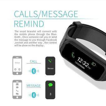 L38i Color-Fullscreen Smartband Dynamic Bluetooth Heart Rate SmartBracelet for Ios And Android - intl - 2