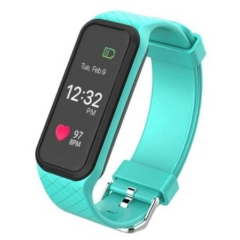 L38i Color-Fullscreen Smartband Dynamic Bluetooth Heart Rate Smart Bracelet for Ios And Android - intl