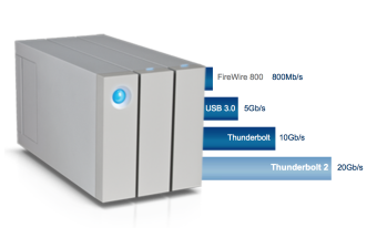 LaCie 6TB LACIE 2big Thunderbolt 2 for 4K workflow and RAID system
