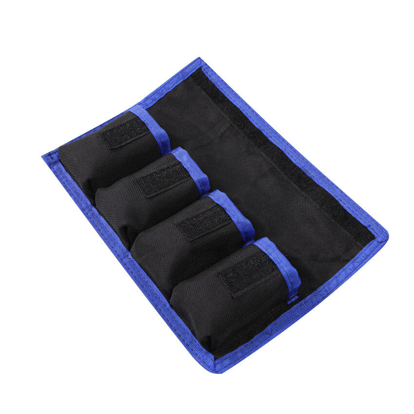Lands Waterproof Nylon Case Holder Storage W/ 4 Pocket Pouch ForLP-E6/8/NP-FW50/EN-EL14/15