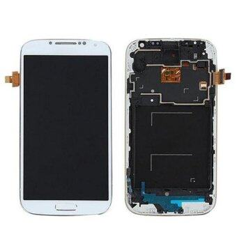 LCD Display Touch Screen Digitizer+Frame For Samsung Galaxy S4i9505 White AI1G - intl