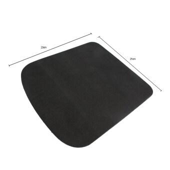 Leegoal รูปทรงสี่เหลี่ยมผืนผ้าหนาเบาะมือหนูหนูเหลือเสื่อโฟม สีดำ