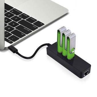 leegoal USB C Lan Hub USB Type-C To 3-Port USB 3.0 Hub WithGigabit Ethernet Port Adapter Ethernet Adapter For New MacBook -intl