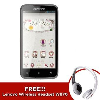Lenovo A516 - Grey ( Free!! Lenovo Wireless Headset W870 - White)