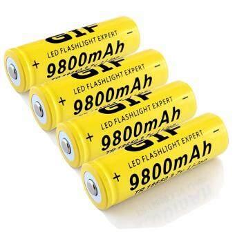 ถ่านชาร์จ Li-ion 18650 GTF 3.7V ความจุ 9800mAh Pack4 (Yellow)