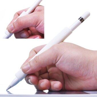 Lightning Power - Set of 4 Premium Silicone Made Pencil Sleeve CapSaver Holder for Apple Pencil (White) - intl - 2