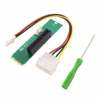 ตัวแปลง M2 เป็น PCI-E | Male To Female NGFF M2 M.2 to PCI-E 4x 1x Slot Riser Card Adapter PCIE Multiplier สำหรับ BTC Miner Mining Machine