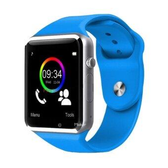 Maker นาฬิกาโทรศัพท์ Bluetooth Smart Watch รุ่น A1 Phone watch(Blue)
