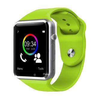 Maker นาฬิกาโทรศัพท์ Bluetooth Smart Watch รุ่น A1 Phone watch(Green)