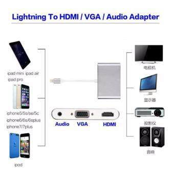 ซื้อ/ขาย Mango Gadget Original Lighting to HDMI/VGA/Audio Adapter for iphone5 5s 5c 6 6s 6 7 plus ipad Pro 9.7 \ipad Pro 12.9\ipad air2 ipad air