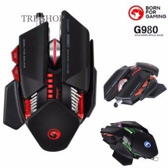 Marvo เมาส์ เกมมิ่ง มาโคร์Full RGB Macro USB Mouse Galaxy Scorpion 7D รุ่น G980 Black (สีดำ)