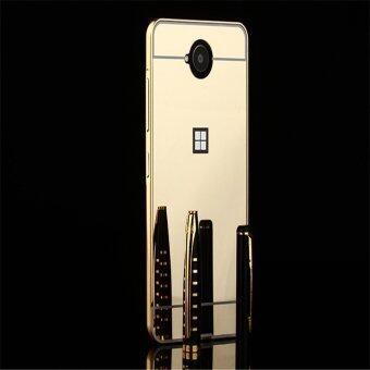 Metal Frame Mirror Back Cover Case For Microsoft Nokia Lumia650/N650 (Gold) -