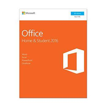 MICROSOFT SOFTWARE MS-OFFICE HOME & STUDENT 2016 (FPP) (79G-04679)