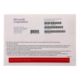 เสนอราคา Microsoft Windows 10 Pro 64 Bit OEM (DVD-ROM)