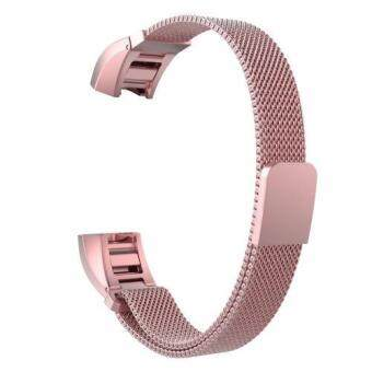 Miimall Milanese Loop Stainless Steel Bracelet Strap with Magnetic Closure Clasp for Fitbit Alta (Old Rose) - intl
