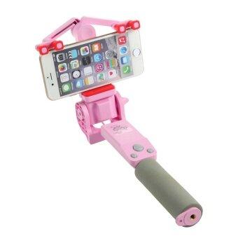 มินิบลูทูธไร้สายชาร์จ Selfie Stick 360 องศา Monopod สำหรับ iPhone Samsung Xiaomi Huawei