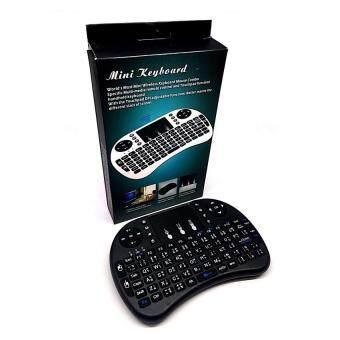 Mini Wireless Keyboard 2.4 Ghz Touchpad มีพิมพ์ภาษาไทยบนตัว สำหรับAndroid tv box , mini pc, windows ( สีดำ) (image 2)